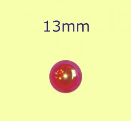 Muggel / 13mm rot irisierend