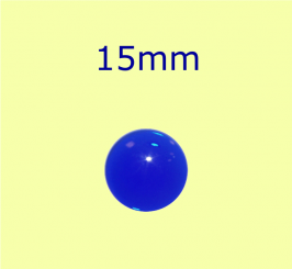 Muggel / 15mm kobaltblau
