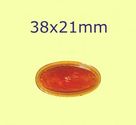 Replikat-Muggel / 38x21mm bernstein