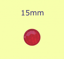 Rauten-Kreis / 15mm rot
