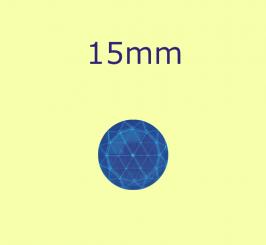 Rauten-Kreis / 15mm kobaltblau