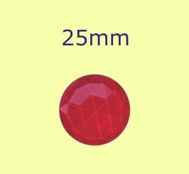 Rauten-Kreis / 25mm rot