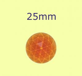 Rauten-Kreis / 25mm bernstein