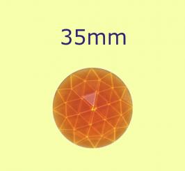 Rauten-Kreis / 35mm bernstein