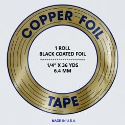 Kupferfolie EDCO / 6,4mm ; schwarz