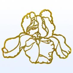Filigran Irisblüte / 88x103mm