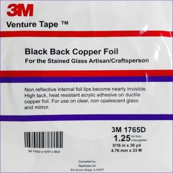 Kupferfolie  Venture Tape / 4,8mm ; schwarz