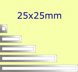 Facette Straight / 25x25mm