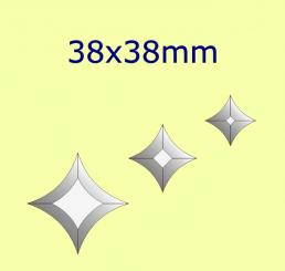 Facette Stern / 38x38mm