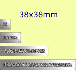 Eisblumen- Facette / 38x38mm