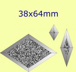 Eisblumen- Raute / 38x64mm