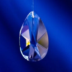 Bleikristall  Spitzoval  50x29mm