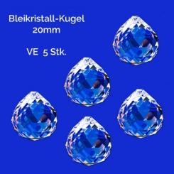 Bleikristall-Kugel 20mm / 5 Stk.