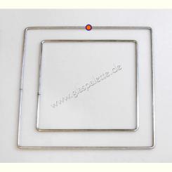 Drahtrahmen Quadrat  20x20cm / verzinkt