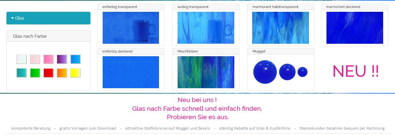 Glas nach Farbe